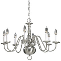 Progress P4357-09 Americana 8 Light 26 inch Brushed Nickel Chandelier Ceiling Light photo thumbnail