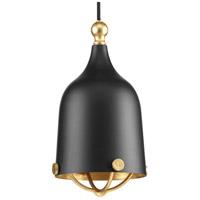 Progress P500032-031 Era 1 Light 6 inch Matte Black Mini-Pendant Ceiling Light, Design Series