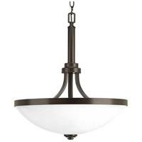 Progress P500054-020 Topsail 3 Light 19 inch Antique Bronze Inverted Pendant Ceiling Light