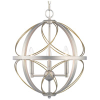 Progress P500068-134 Brandywine 3 Light Silver Ridge Pendant Ceiling Light photo thumbnail