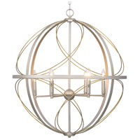 Progress P500069-134 Brandywine 6 Light 28 inch Silver Ridge Pendant Ceiling Light