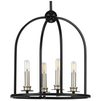 Progress P500121-031 Seneca 4 Light 15 inch Black Pendant Ceiling Light