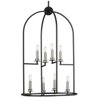 Progress P500122-031 Seneca 8 Light 20 inch Black Foyer Pendant Ceiling Light