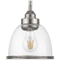 Progress P500137-009 Saluda 1 Light 7 inch Brushed Nickel Mini Pendant Ceiling Light