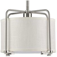 Progress P500138-009 Kempsey 1 Light 12 inch Brushed Nickel Pendant Ceiling Light