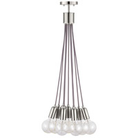 Cirro 9 Light 6 inch Brushed Nickel Pendant Ceiling Light