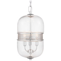 Progress P500156-015 Cayce 3 Light 9 inch Polished Chrome Pendant Ceiling Light
