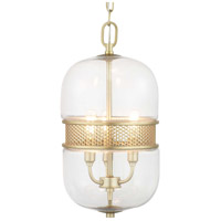 Progress P500156-078 Cayce 3 Light 9 inch Vintage Gold Pendant Ceiling Light