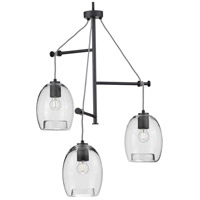 Progress P500160-143 Caisson 3 Light 30 inch Graphite Pendant Ceiling Light