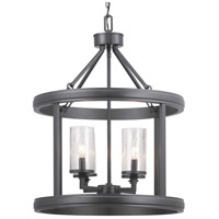 Progress P500164-143 Gresham 4 Light 20 inch Graphite Foyer Pendant Ceiling Light Design Series