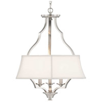 Progress P500166-009 Carriage Hill 3 Light 21 inch Brushed Nickel Pendant Ceiling Light Design Series