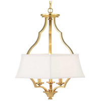 Progress P500166-109 Carriage Hill 3 Light 21 inch Brushed Bronze Pendant Ceiling Light Design Series