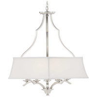 Progress P500167-009 Carriage Hill 6 Light 29 inch Brushed Nickel Pendant Ceiling Light Design Series