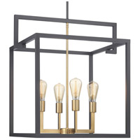 Progress P500168-143 Blakely 4 Light 23 inch Graphite Foyer Pendant Ceiling Light Design Series