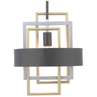 Adagio 1 Light 12 inch Black Pendant Ceiling Light, Design Series