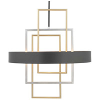 Progress P500174-031 Adagio 6 Light 24 inch Black Pendant Ceiling Light Design Series
