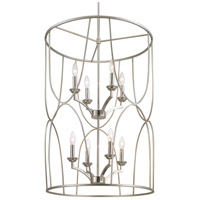Landree 8 Light 23 inch Silver Ridge Foyer Pendant Ceiling Light