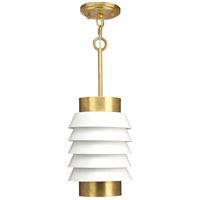 Progress P500194-160 Point Dume Onshore 1 Light 8 inch Brushed Brass Pendant Ceiling Light Jeffrey Alan Marks Design Series
