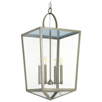 Progress P500196-081 Point Dume Shearwater 4 Light 16 inch Antique Nickel Foyer Pendant Ceiling Light Jeffrey Alan Marks Design Series