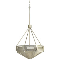 Point Dume Yerba 4 Light 22 inch Silver Ridge Pendant Ceiling Light, Jeffrey Alan Marks, Design Series