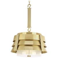 Progress P500198-160 Point Dume Sandbar 3 Light 21 inch Brushed Brass Pendant Ceiling Light Jeffrey Alan Marks Design Series