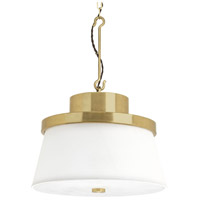 Progress P500203-160 Point Dume Windbluff 3 Light 20 inch Brushed Brass Pendant Ceiling Light Jeffrey Alan Marks Design Series