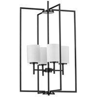 Progress P500206-031 Replay 4 Light 18 inch Black Pendant Ceiling Light