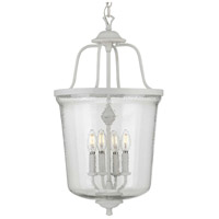 Progress P500207-151 Bowman 4 Light 14 inch Cottage White Foyer Pendant Ceiling Light