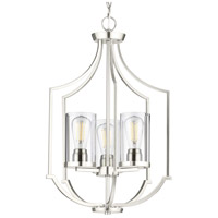 Progress P500209-009 Lassiter 3 Light 17 inch Brushed Nickel Foyer Pendant Ceiling Light