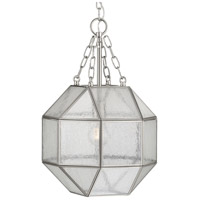 Progress P500221-009 Mauldin 1 Light 12 inch Brushed Nickel Pendant Ceiling Light, Design Series