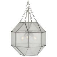 Progress P500222-009 Mauldin 3 Light 17 inch Brushed Nickel Pendant Ceiling Light, Design Series