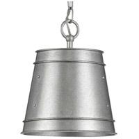 Progress P500226-141 Galveston 1 Light 9 inch Galvanized Finish Outdoor Pendant