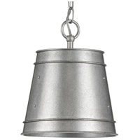 Progress P500226-141 Galveston 1 Light Galvanized Pendant Ceiling Light