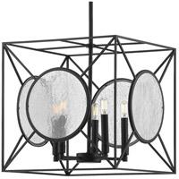 Progress P500233-031 Cumberland 5 Light 16 inch Matte Black Pendant Ceiling Light, Design Series