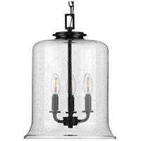 Progress P500239-031 Winslett 3 Light Matte Black Pendant Ceiling Light