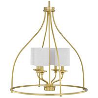Progress P500285-012 Bonita 4 Light 23 inch Satin Brass Foyer Chandelier Ceiling Light Design Series