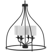 Progress P500285-031 Bonita 4 Light 23 inch Matte Black Foyer Chandelier Ceiling Light Design Series