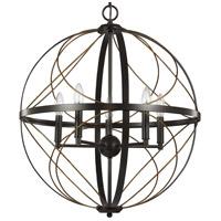 Progress P500287-020 Brandywine 5 Light 22 inch Antique Bronze Pendant Ceiling Light