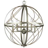 Progress P500287-134 Brandywine 5 Light 22 inch Silver Ridge Pendant Ceiling Light