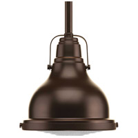 Progress P5050-108 Fresnel Lens 1 Light 6 inch Oil Rubbed Bronze Mini-Pendant Ceiling Light in Standard