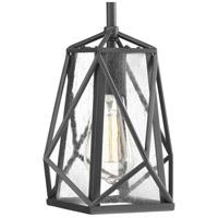 Progress P5073-143 Marque 1 Light 8 inch Graphite Mini-Pendant Ceiling Light, Design Series
