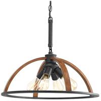 Progress P5168-71 Trestle 4 Light Gilded Iron Pendant Ceiling Light