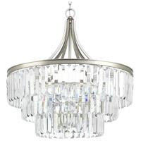 Progress P5346-134 Glimmer 6 Light Silver Ridge Pendant Ceiling Light, Design Series