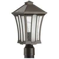 Progress P540000-020 Twain 1 Light 16 inch Antique Bronze Outdoor Post Lantern, Design Series