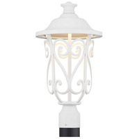 Leawood LED LED 19 inch White Outdoor Post Lantern, Design Series