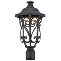 Leawood LED LED 19 inch Black Outdoor Post Lantern, Design Series