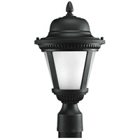 Progress P5445-3130K9 Westport LED LED 16 inch Textured Black Outdoor Post Lantern in Etched Seeded, Progress LED