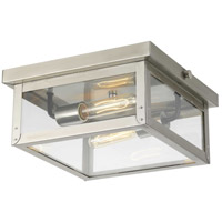 Progress P550007-135 Union Square 2 Light 12 inch Stainless Steel Outdoor Flush Mount, Design Series