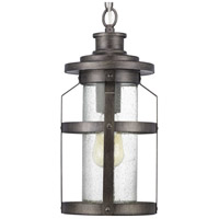 Progress P550031-103 Haslett 1 Light 8 inch Antique Pewter Outdoor Hanging Lantern