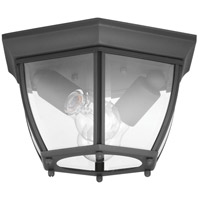 New Haven 2 Light 11 inch Black Outdoor Flush Mount